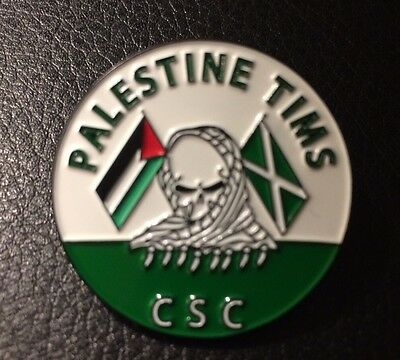 Palestine Tims CSC Celtic Fc Pin Badge Ireland Anti-Fa