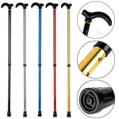 Adjustable 2 Sections Walking Travel Stick Adjustable Aluminium Metal Cane Pole
