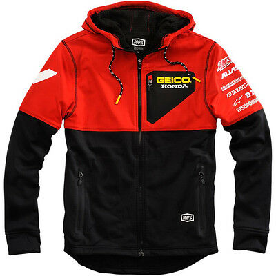 Geico Team Honda 100% Technique Soft Shell Jacke Jacket Rot Crf 450 250 / L