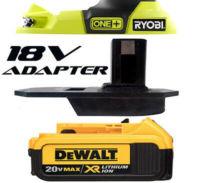 Dewalt Mitre Saw Brad Nailer Circular Saw Battery Adapter to Ryobi 18v Tools