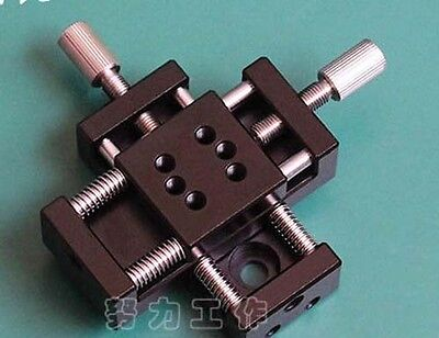 XY Axis Manual Stage Sliding Table Adjust Platform  20*20mm Travel 10*10mm 9