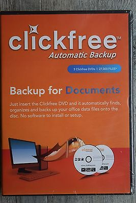 8 x Clickfree Automatic Backup for Music 3 clickfree DVDs 9000 files/DVD