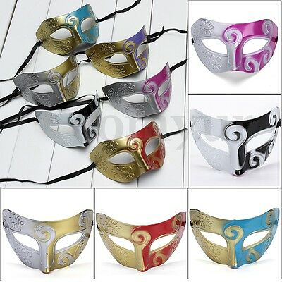 Carnival Cosplay Masquerade Venetian Halloween Greek Men's Ball Party Eye Mask