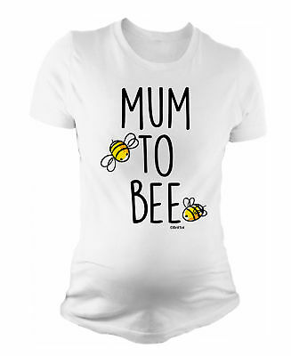 Ladies MATERNITY T-Shirt Mum To Bee Funny Womens PREGNANCY Baby Gift