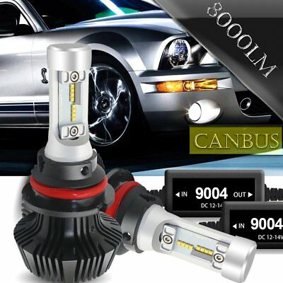 2PC 7G 9004 HB1 LED Headlight Bulbs 72W 12000LM 6500K Hi/Lo Beam Conversion Kit