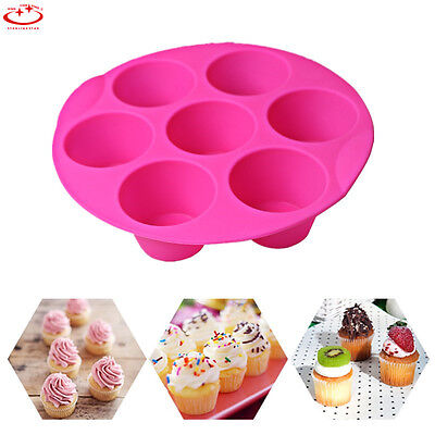 7 Holes Silicone Cake Mold Pan Muffin Pudding Cookies Chocolate Baking Tray Mold
