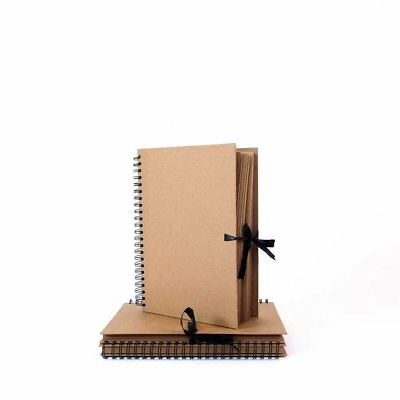 Seawhite Kraft Brown Paper Sketch Book, Display Scrapbook Ring Bound Cover A5