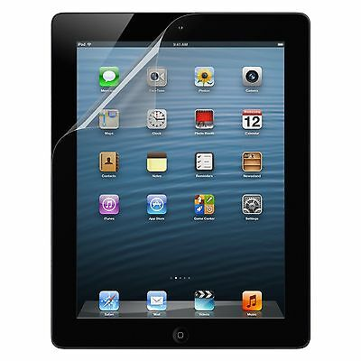 3 x CRYSTAL CLEAR SCREEN PROTECTOR GUARD FILM COVER FOR APPLE IPAD 4 3 & 2 GLASS