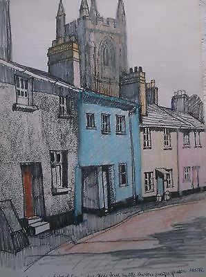 COLOURED GRAPHITE DRAWING by FREDERICK GEORGE WILLS 1901-1993 R.I. KENTON