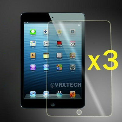 3 x CRYSTAL CLEAR SCREEN PROTECTOR GUARD FILM COVER FOR APPLE IPAD MINI 1 2 & 3