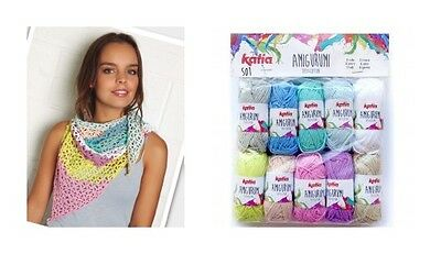 EASY SCARF CROCHET KIT  Katia Amigurumi  3ply 100% Cotton Crochet Pattern