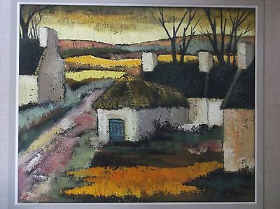 FRAMED IMPRESSIONIST OIL ON CANVAS PAINTING signed 1960 A LANDSCAPE STUDY