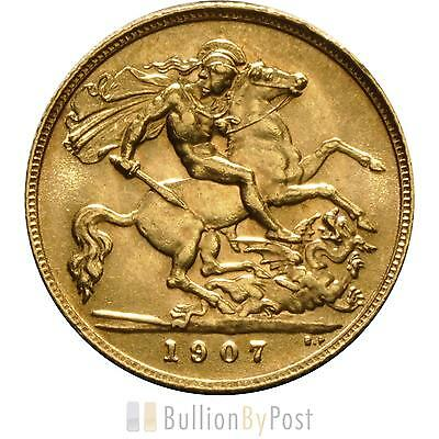 1907 Gold Half Sovereign - King Edward VII - London