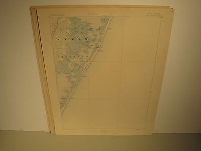 Usgs Long Beach New Jersey Topographical 1902 Map