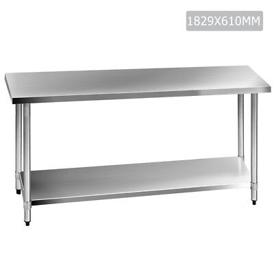 NEW 430 Stainless Steel Kitchen Work Bench Table
