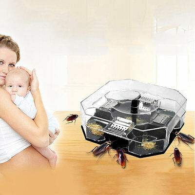 Cockroach Insects Bugs Capture Bait Trap Killer Catcher Box I9