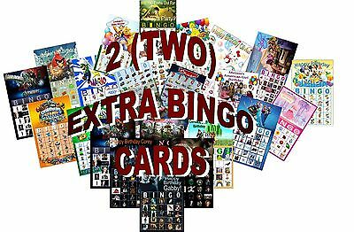 2 Extra Bingo Cards - Add On to Personalized Bingo Games Listed Separately NEW!