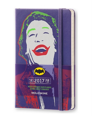 Moleskine 12 month limited edition 2017 weekly pocket planner The Joker