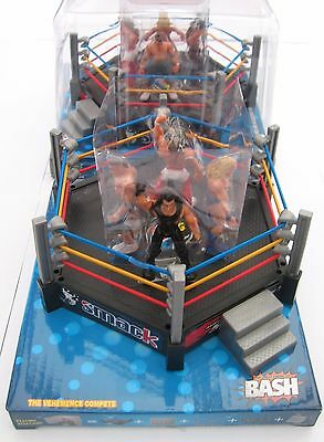 New In Pack Wrestling Ring Four Figures Steps, Ring Side & Ropes Smack Top Speed