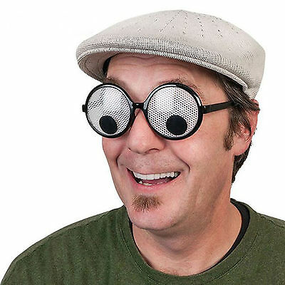 Googly Eyes Funny Joke Glasses Wheres Wally Fancy dress Party Novelty Moving UK