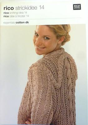 RICO KNITTING IDEA 7 .A  BOOK WITH  7 KNITTING PATTERNS USING ESSENTIALS COTTON