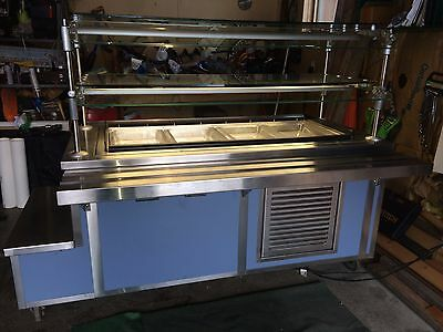 Piper Products Lighted Refrigerated Cold Food Buffet / Salad Bar On Wheels