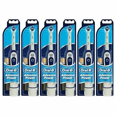 6 x Oral-B Advance Power 400 DB4010 Battery Powered Electric Toothbrush Advanced