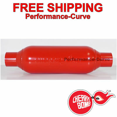 "Cherry Bomb M-80 Two Chamber Muffler - 5"" Round - 2.5"" In / Out - M80250"