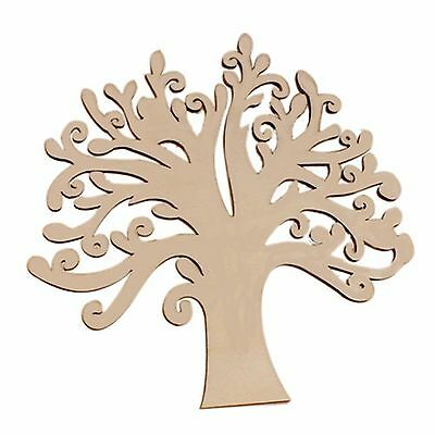 1 x MDF Wooden Tree Cutout Laser Cut Wood Craft Design Party Decoration