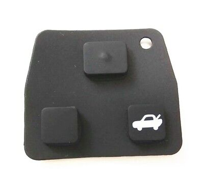 Toyota replacement repair rubber silicone key pad 2 3 button remote keys