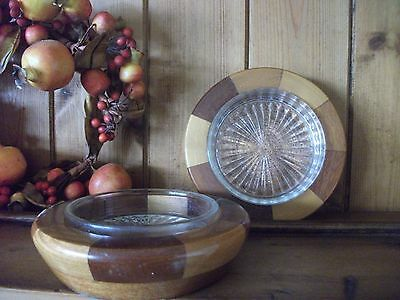 Vintage Cambridge Ware Wine coasters /butter dishes x 2