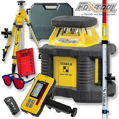 STABILA Rotationslaser LAR250 Allround-Set [+STATIV BST-K-L +RECEIVER REC300]