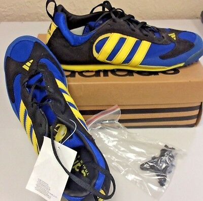 Adidas Apollo XC Track & Field Cross Country Mens 10 New Royal Blue Yellow Blk