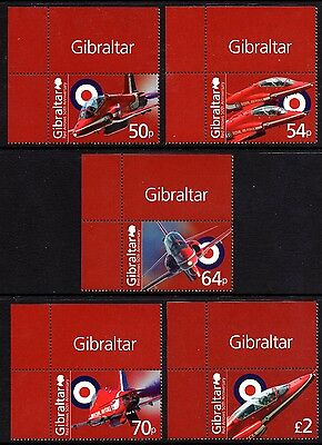 Gibraltar 2014 50th Anniv. of Red Arrows SG1577 - 81 Complete Set Unmounted Mint