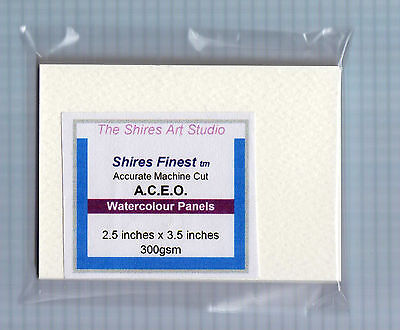 Pack of 15 ACEO Watercolour Blank Panels 3.5 inch x 2.5 inch