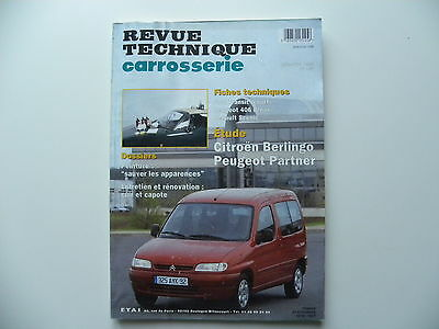 revue technique automobile carrosserie RTA CITROEN Berlingo / PEUGEOT Partner