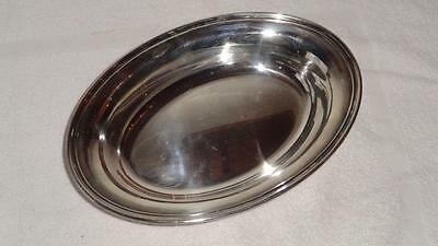 "Silver Wedding Oval Serving Dish , Vegetable, Gorham Silver Plate 10.75"" x 7.5"""