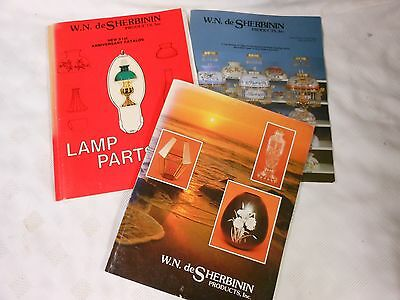 Vintage deSherbinin Lamps Shades Parts Dealer Reference Books Collector's Guide