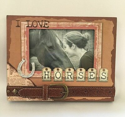 Horse Lover * Cowgirl Photo Picture Frame  3D Scrapbook Style Embellised