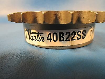 Martin 40B22SS 5/8 Bore Reborable Sprocket, Stainless Steel