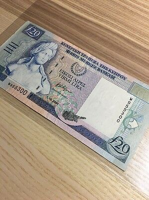 2001 Cyprus, Central Bank of Cyprus, 20 Pounds
