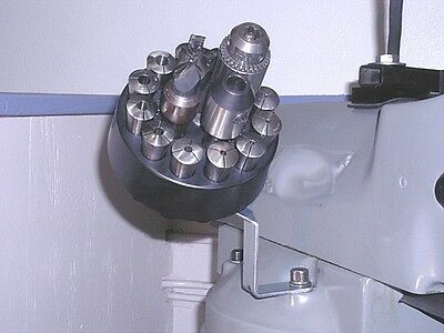 R-8 Rotating Collet Caddy Rack Holds Up To 16 Heavy R8 Collets Bridgeport Mold