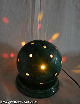 Mid Century Mod Ceramic ORB Lamp FLASHING COLORED LITES Psychedelic