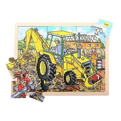 Bigjigs Toys BJ743 Tray Puzzle Digger New