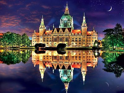 Buffalo Games Reflections: New Town Hall Hanover Germany Jigsaw Puzzle (7... New