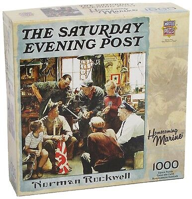 Masterpieces Saturday Evening Post Norman Rockwell Homecoming Marine Jigs... New