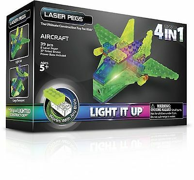 Laser Pegs 4-in-1 Aircraft Building Set New