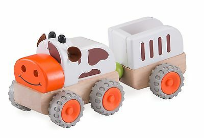 Wonderworld Moo Moo Tractor New