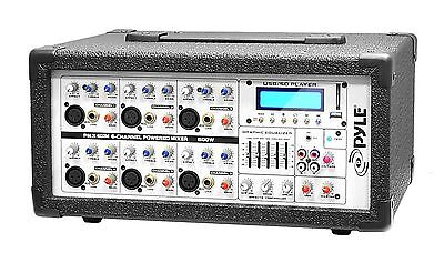 Pyle-Pro Pmx602m 6 Channel 600-Watts Powered Mixer with Mp3 New