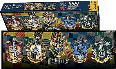 Harry Potter Crests 1000 Pc Slim Jigsaw Puzzle New